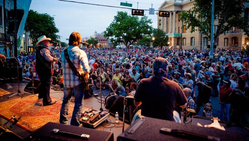 Live music on The Square in downtown Georgetown, Texas