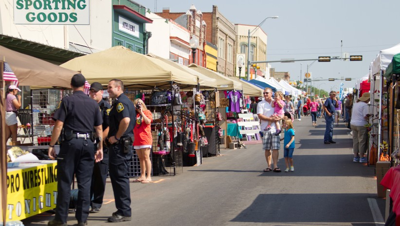 Image from the festival in downtown Taylor, Texas